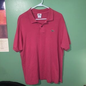 PINK VINTAGE LACOSTE POLO
